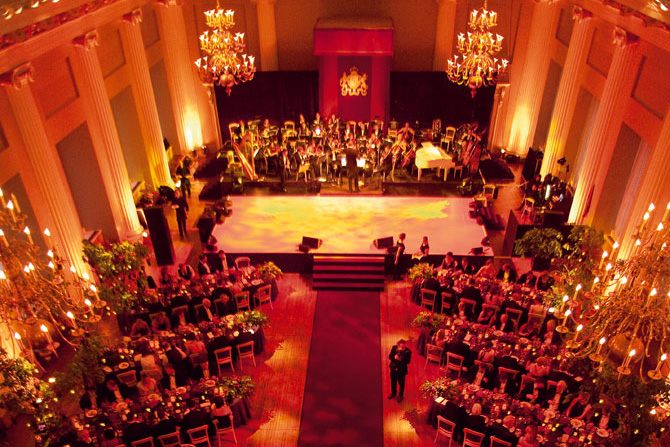 The Mozart Symphony Orchestra performing at a wedding ceremony
